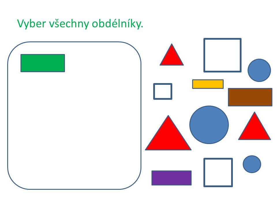 Vyber všechny trojúhelníky.
