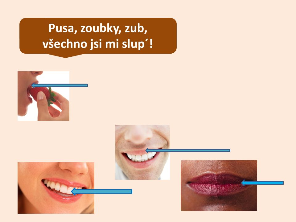 Pusa, zoubky, zub, všechno jsi mi slup´!