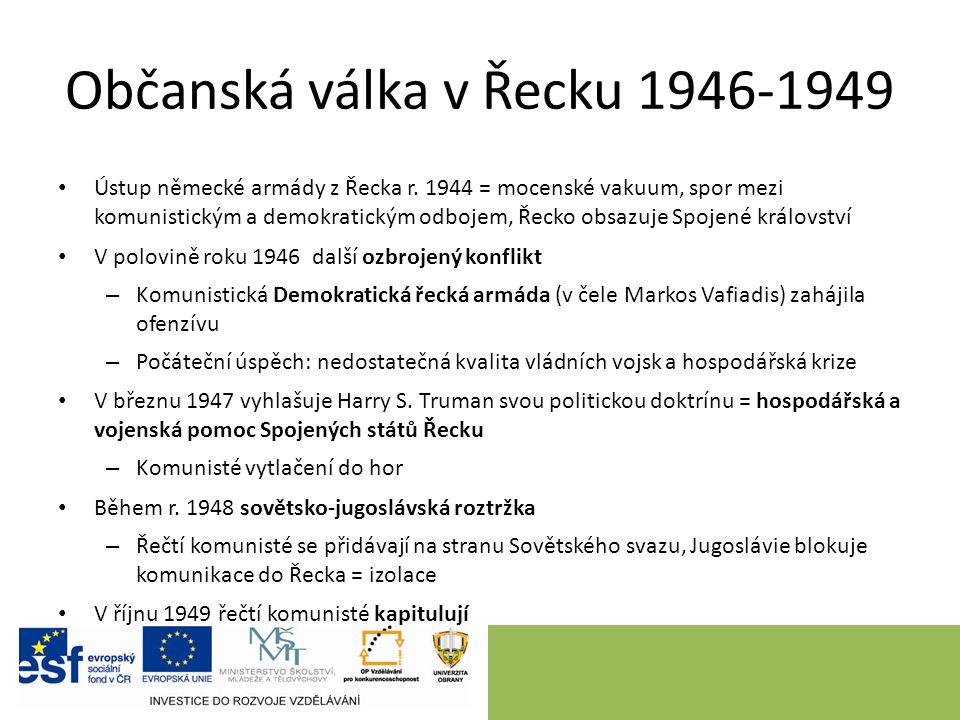 Občanská válka v Řecku 1946-1949 Ústup německé armády z Řecka r.