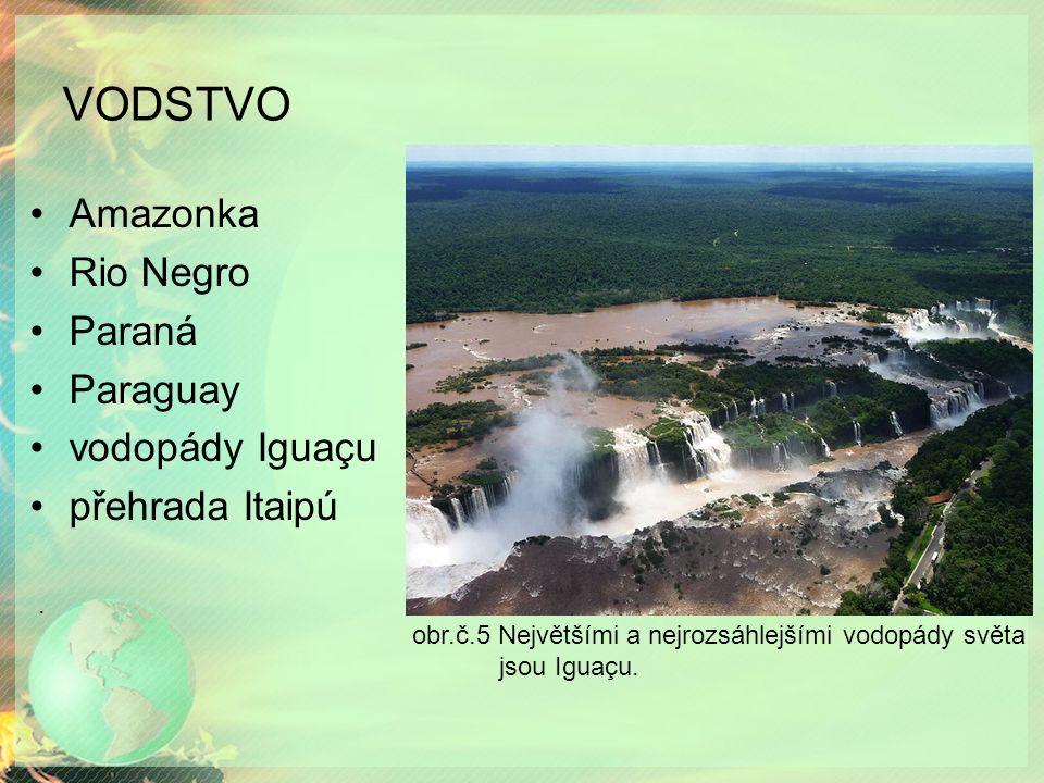 VODSTVO. obr.č.5 Největšími a nejrozsáhlejšími vodopády světa jsou Iguaçu.