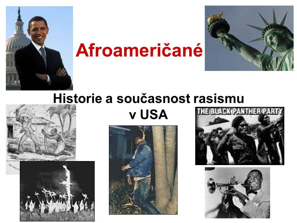 Afroameričané Historie a současnost rasismu v USA