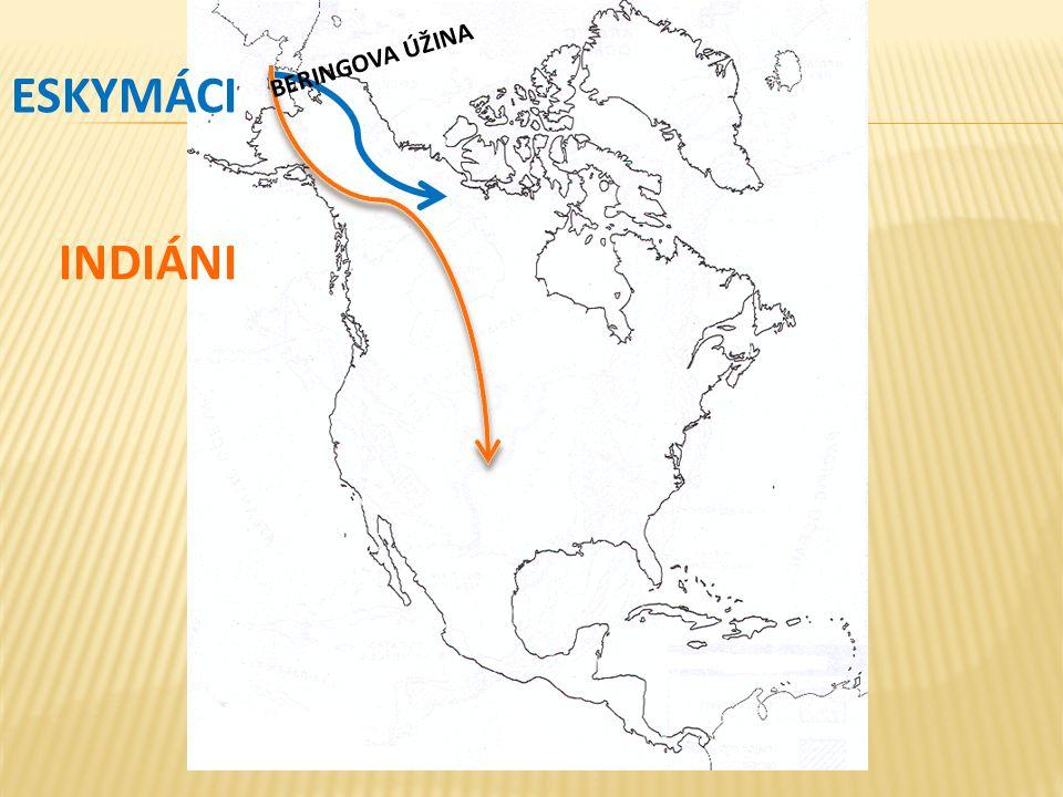  Před 30 000 lety předkové indiánů a Eskymáků  Pravděpodobně přes Beringův průliv  Postupně po celém kontinentu  Střední Jižní Amerika (Mayové, Inkové, Aztékové)  První Evropané  Vikingové (Grónsko), kolem roku 1000  Kryštof Kolumbus rok 1492