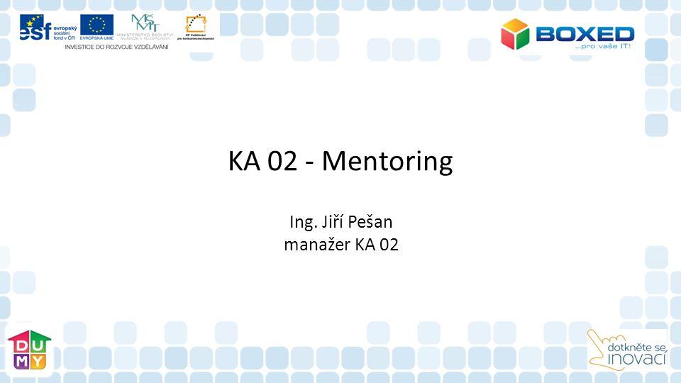 KA 02 - Mentoring Ing. Jiří Pešan manažer KA 02