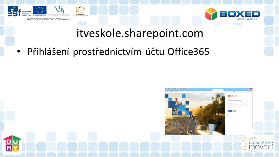 itveskole.sharepoint.com Přihlášení prostřednictvím účtu Office365