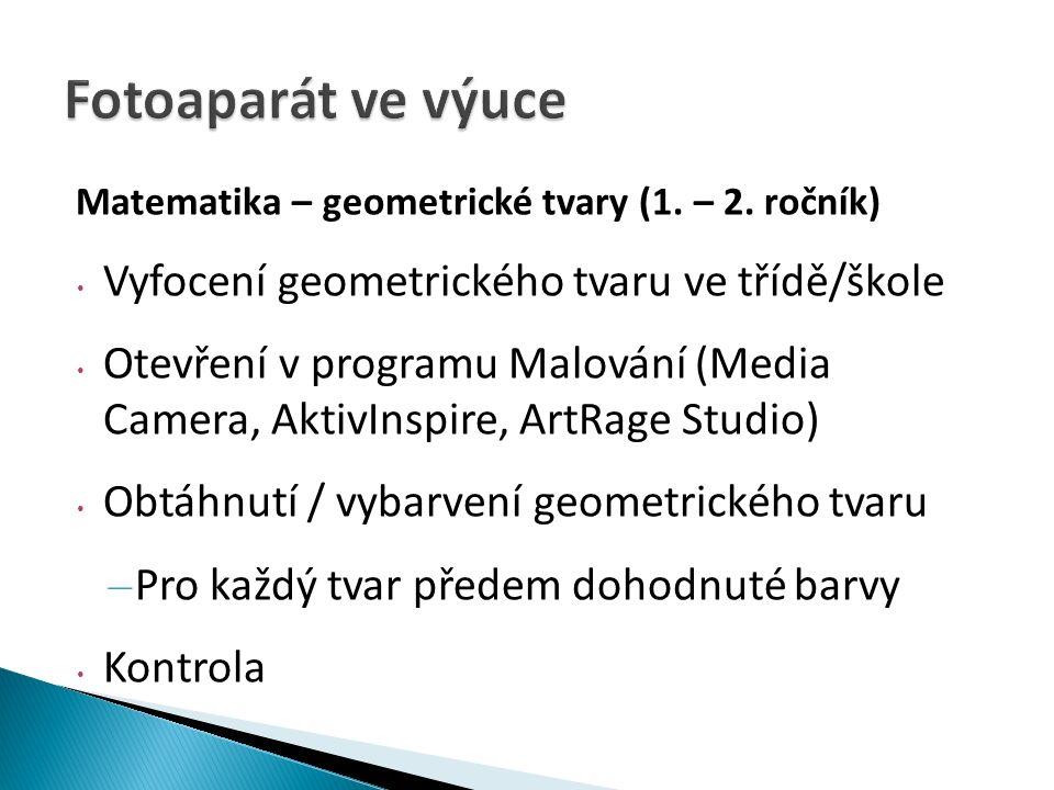 Matematika – geometrické tvary (1. – 2.