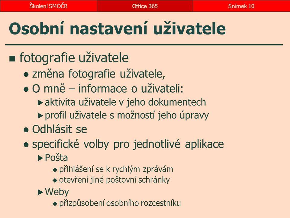 Osobní nastavení uživatele fotografie uživatele změna fotografie uživatele, O mně – informace o uživateli:  aktivita uživatele v jeho dokumentech  p