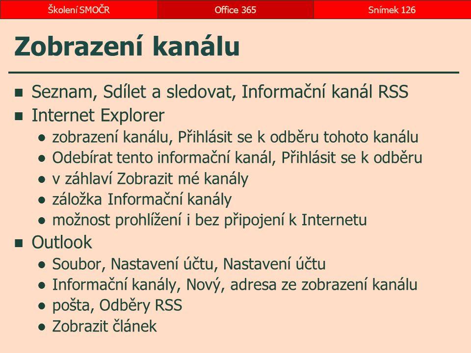 Zobrazení kanálu Seznam, Sdílet a sledovat, Informační kanál RSS Internet Explorer zobrazení kanálu, Přihlásit se k odběru tohoto kanálu Odebírat tent