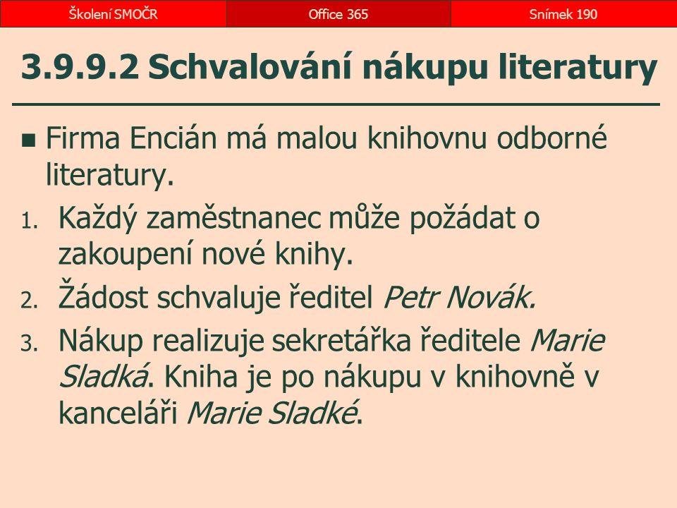 3.9.9.2 Schvalování nákupu literatury Firma Encián má malou knihovnu odborné literatury.