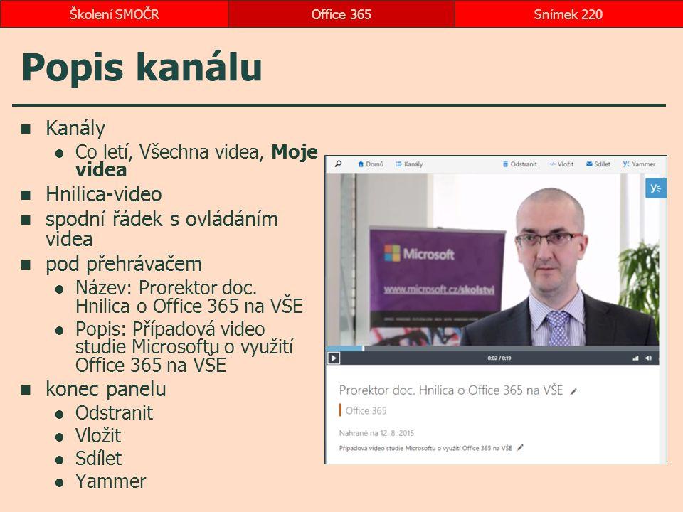 Popis kanálu Kanály Co letí, Všechna videa, Moje videa Hnilica-video spodní řádek s ovládáním videa pod přehrávačem Název: Prorektor doc.