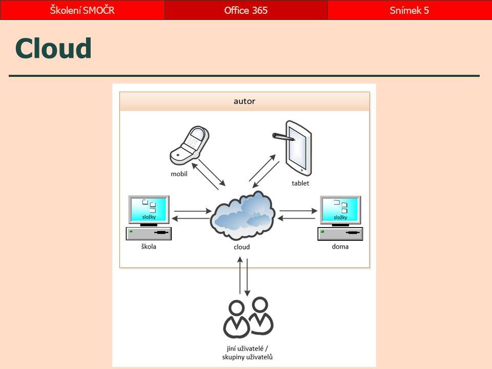 Cloud Office 365Snímek 5Školení SMOČR