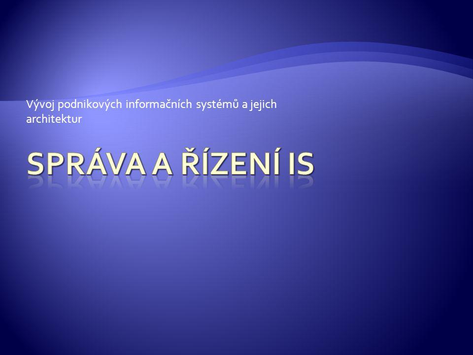 1.Podnikové informační systémy (ERP systémy) 2.