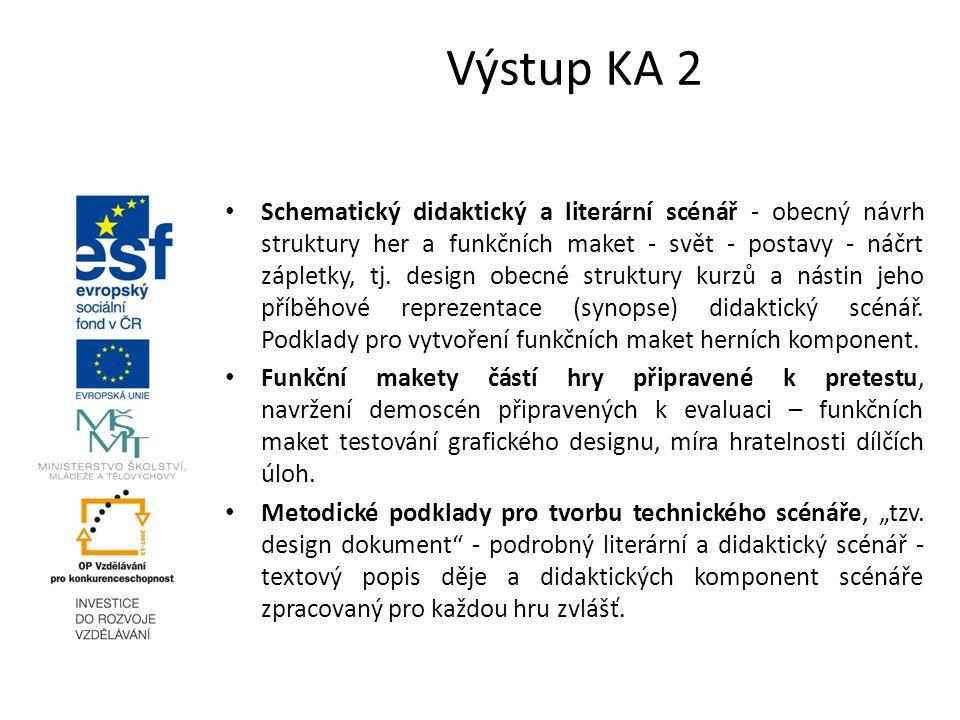 Schematický didaktický a literární scénář - obecný návrh struktury her a funkčních maket - svět - postavy - náčrt zápletky, tj. design obecné struktur