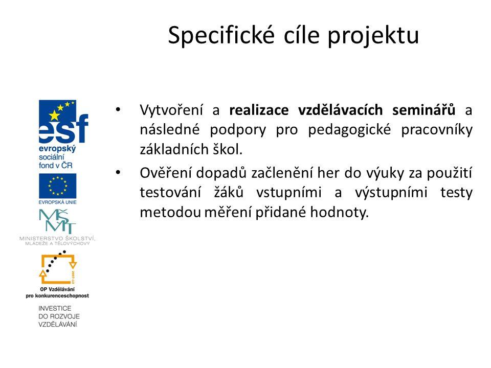 Vytvoření a realizace vzdělávacích seminářů a následné podpory pro pedagogické pracovníky základních škol.