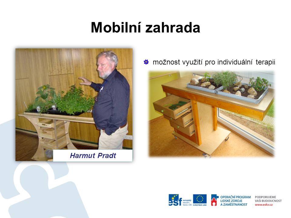 Mobilní zahrada Harmut Pradt možnost využití pro individuální terapii