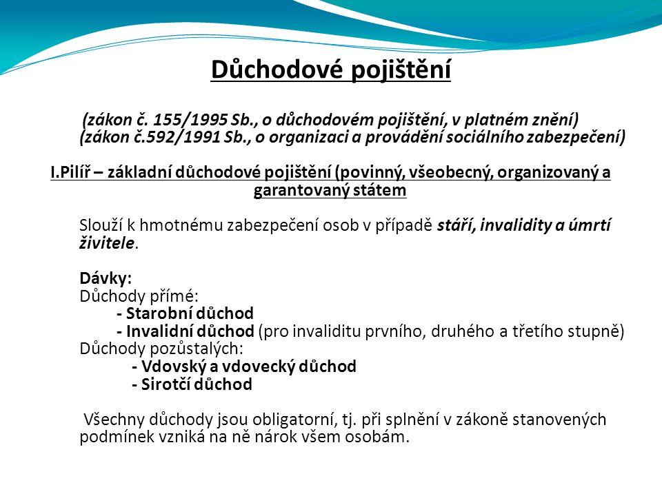 Důchodové pojištění (zákon č.