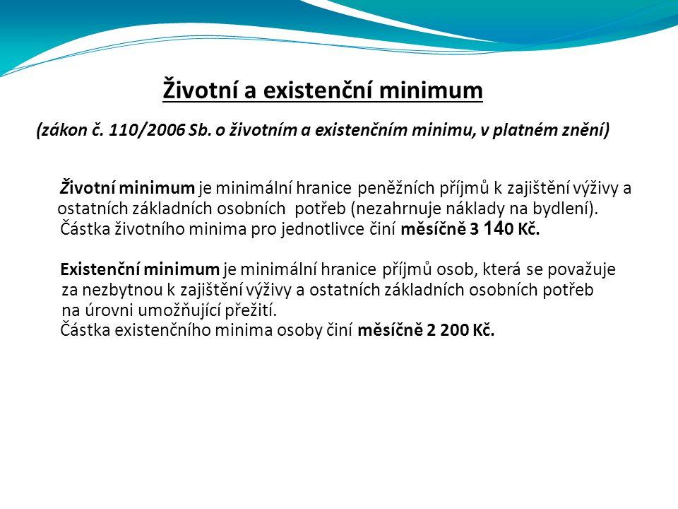 Životní a existenční minimum (zákon č. 110/2006 Sb.