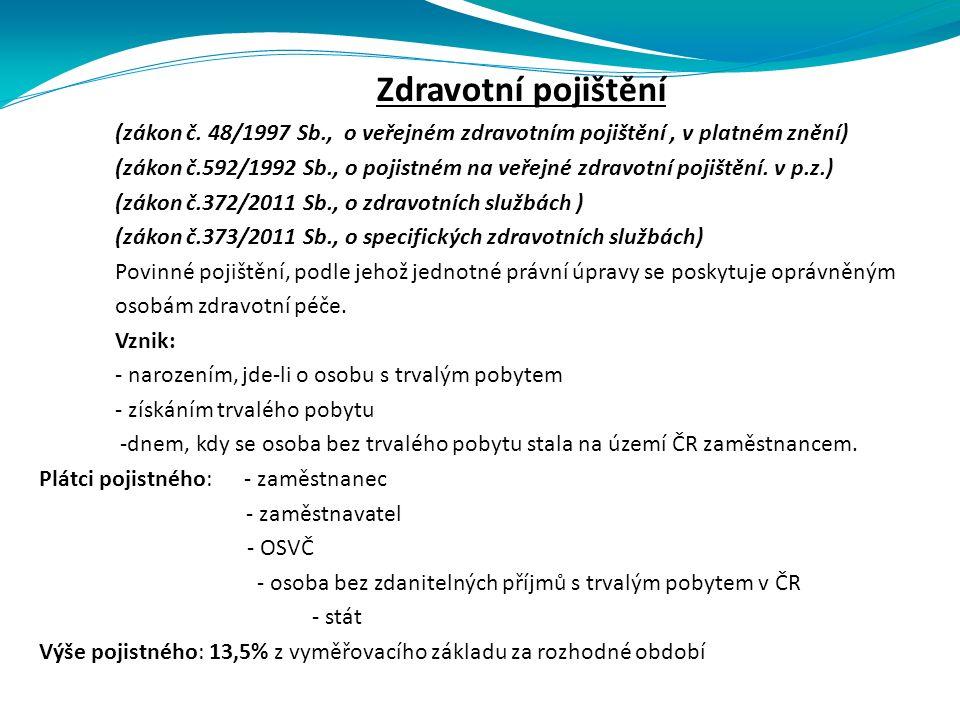 Zdravotní pojištění (zákon č.