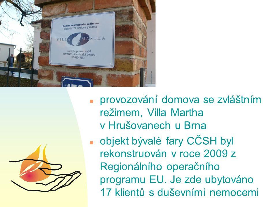 Aktivity projektu n 2005 – specifikace problému, jeho analýza, hledání vhodného objektu n 2006 – získání objektu od Diecézní rady Církve československé husitské (CČSH), zahájeny práce na projektové přípravě