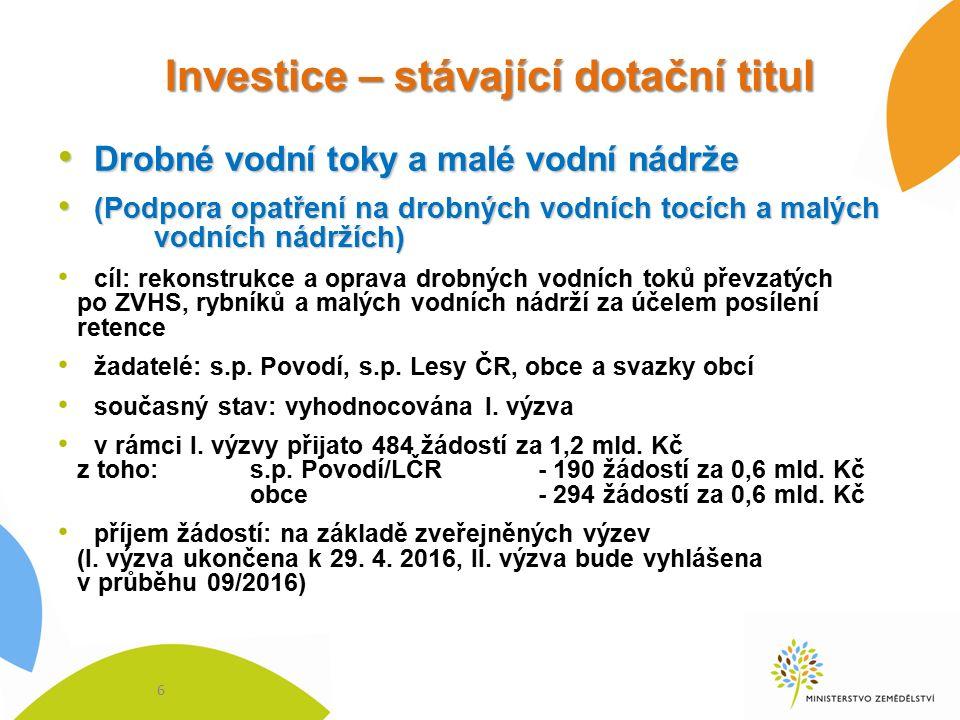 Investice – nový dotační titul (2016) !!.