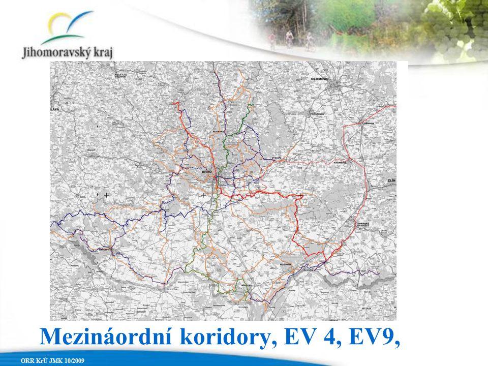 ORR KrÚ JMK 10/2009 Mezináordní koridory, EV 4, EV9,