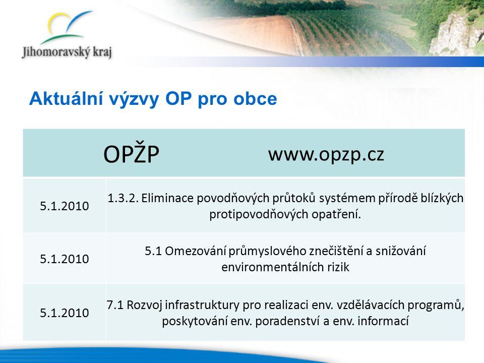 OPŽP www.opzp.cz 5.1.2010 1.3.2. Eliminace povodňových průtoků systémem přírodě blízkých protipovodňových opatření. 5.1.2010 5.1 Omezování průmyslovéh