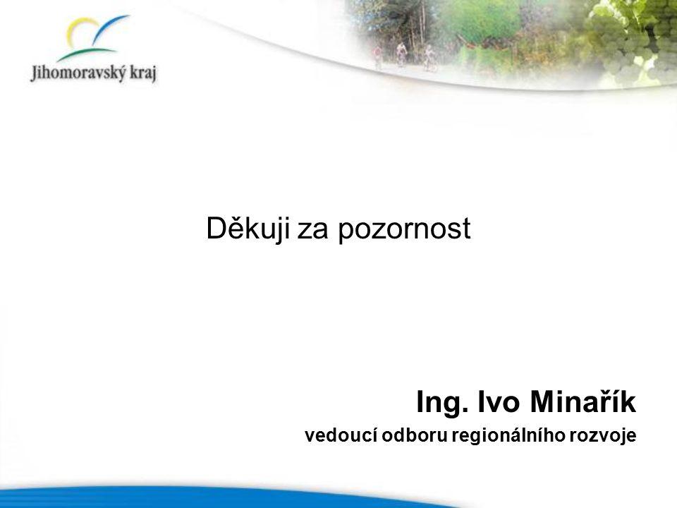 Děkuji za pozornost Ing. Ivo Minařík vedoucí odboru regionálního rozvoje