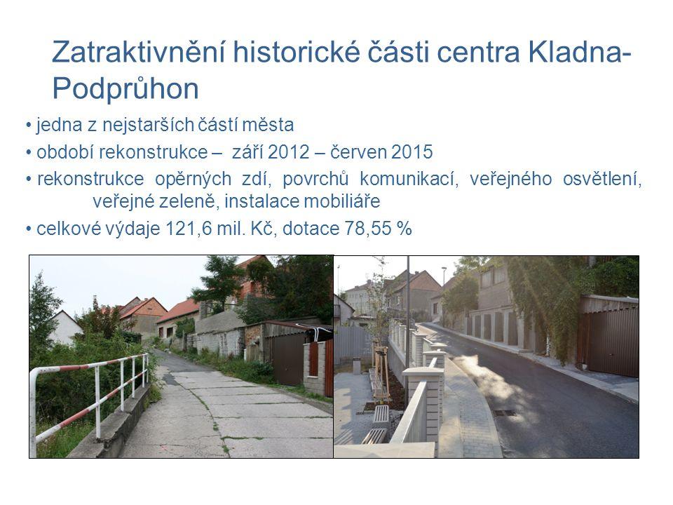 jedna z nejstarších částí města období rekonstrukce – září 2012 – červen 2015 rekonstrukce opěrných zdí, povrchů komunikací, veřejného osvětlení, veřejné zeleně, instalace mobiliáře celkové výdaje 121,6 mil.