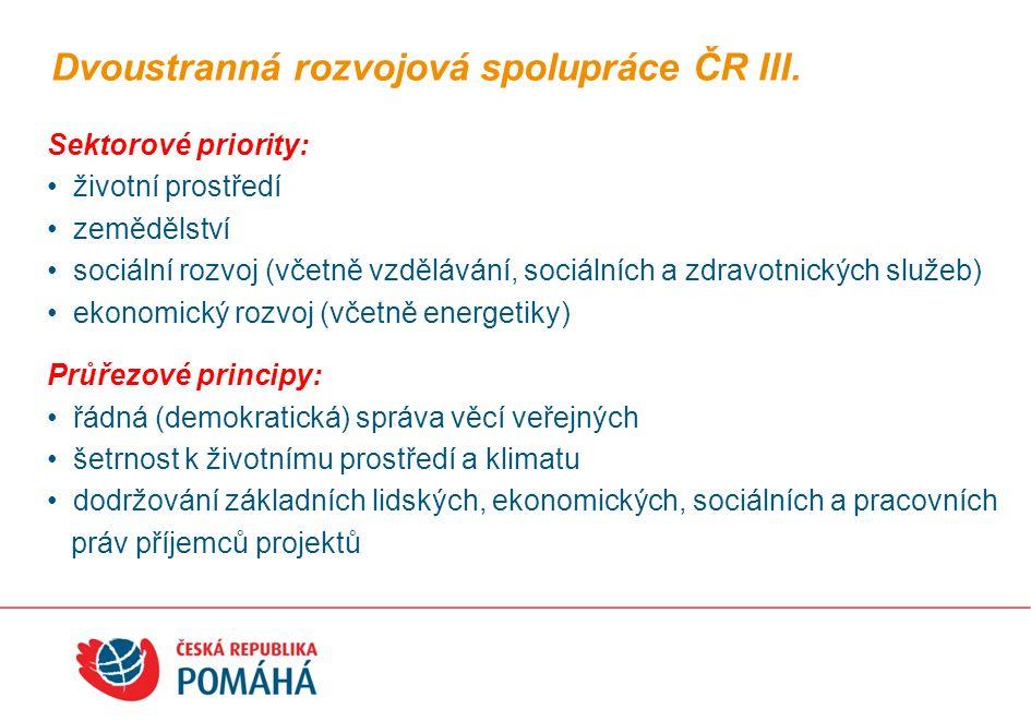 Česká rozvojová agentura působí od 1.