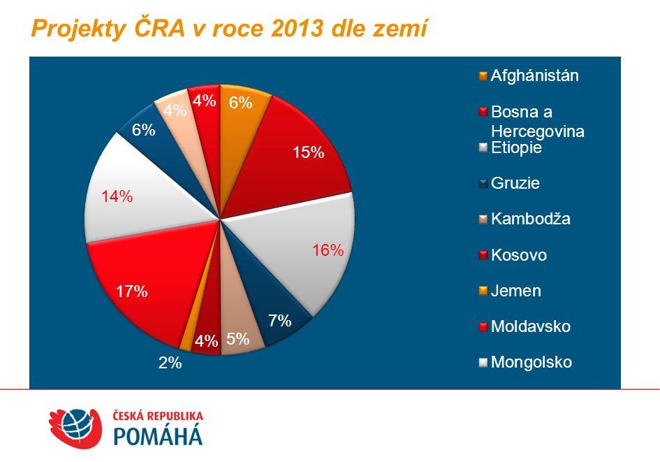 Projekty ČRA v roce 2013 dle sektorů