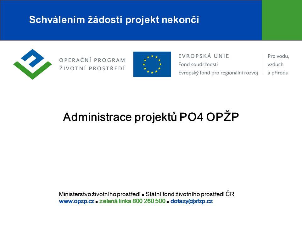 Podklady pro ZVA  V oblasti podpory 4.2:  Stanovisko MŽP – Odboru ekologických škod k dokončené akci (bylo-li vyžadováno k žádosti) u 4.2;  Závěrečná zpráva (o sanaci, doprůzkumu apod.) a aktualizovaná analýza rizika – u projektů oblasti podpory 4.2.