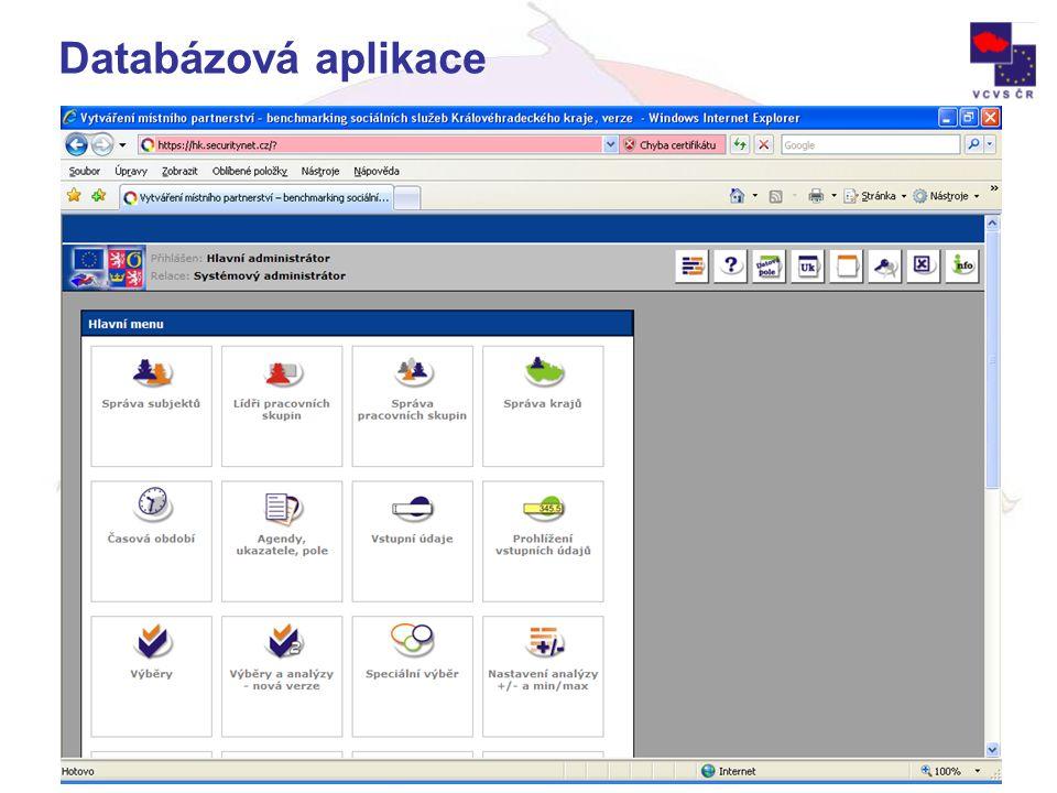 Projekt je spolufinancován Evropskou unií v rámci opatření 3.2, SROP. Databázová aplikace