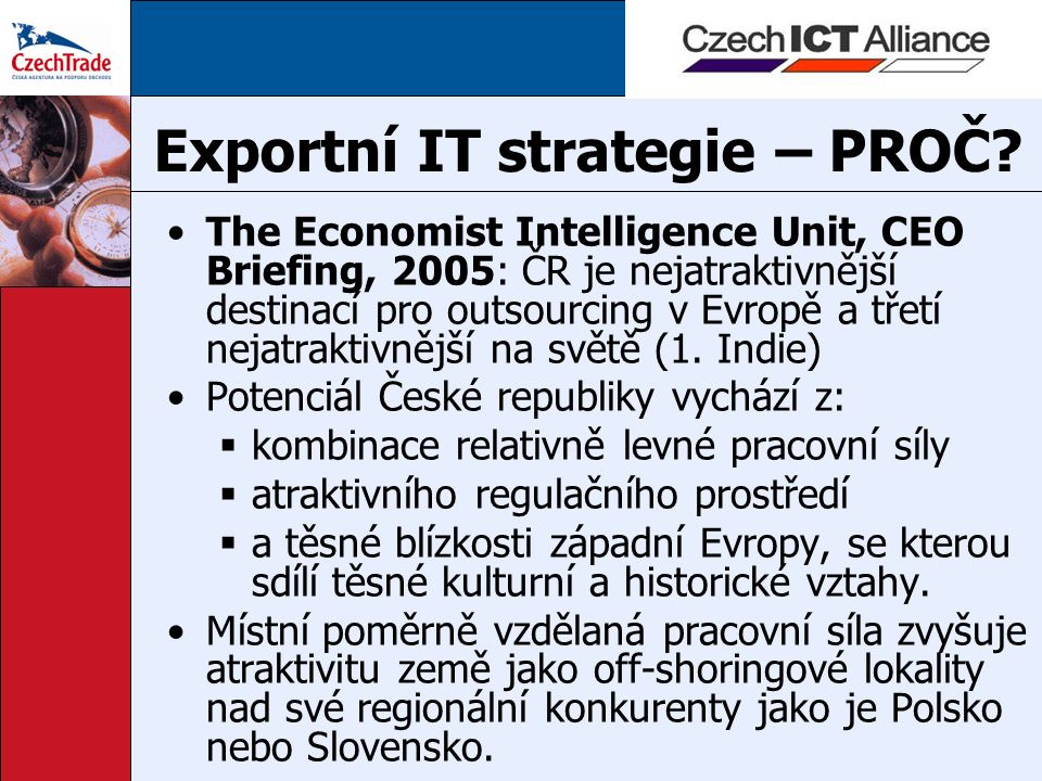 Exportní IT strategie – PROČ.