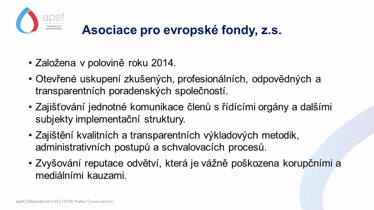 Asociace pro evropské fondy, z.s. Založena v polovině roku 2014.