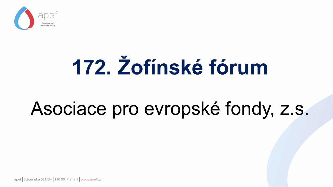 172. Žofínské fórum Asociace pro evropské fondy, z.s.
