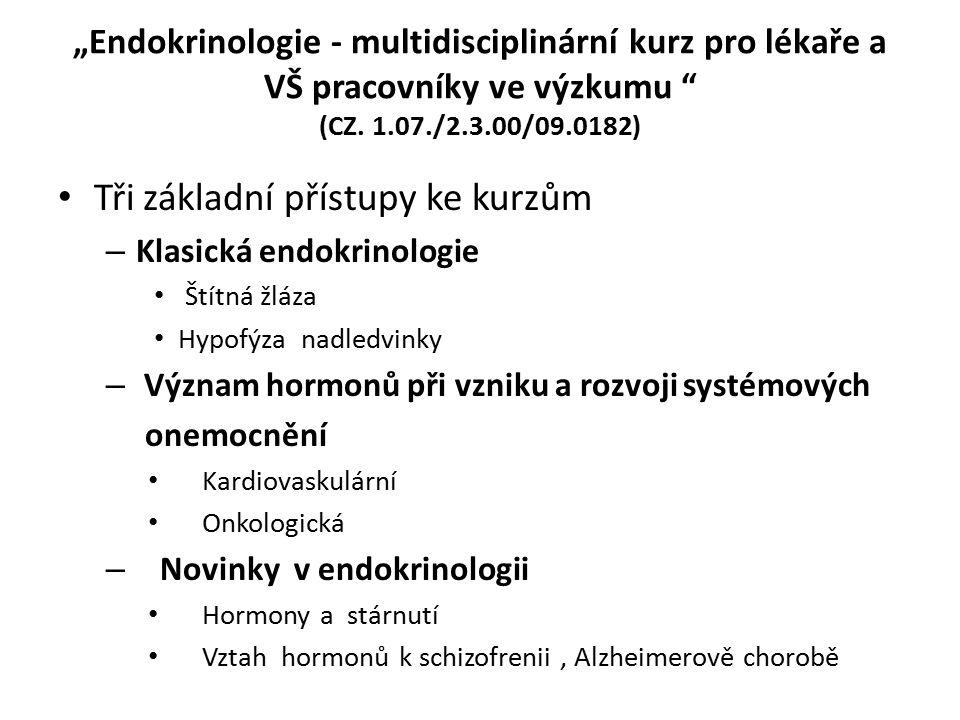 """""""Endokrinologie - multidisciplinární kurz pro lékaře a VŠ pracovníky ve výzkumu (CZ."""