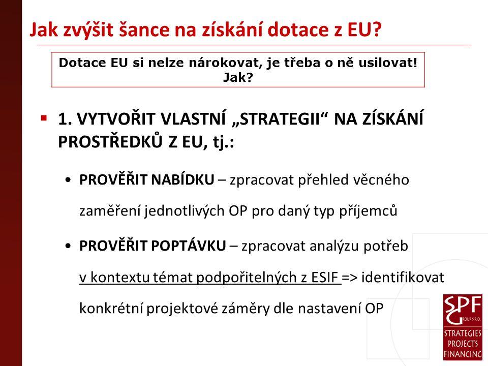 Jak zvýšit šance na získání dotace z EU.  1.