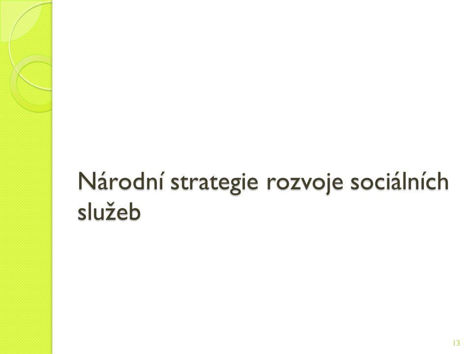 Národní strategie rozvoje sociálních služeb 13