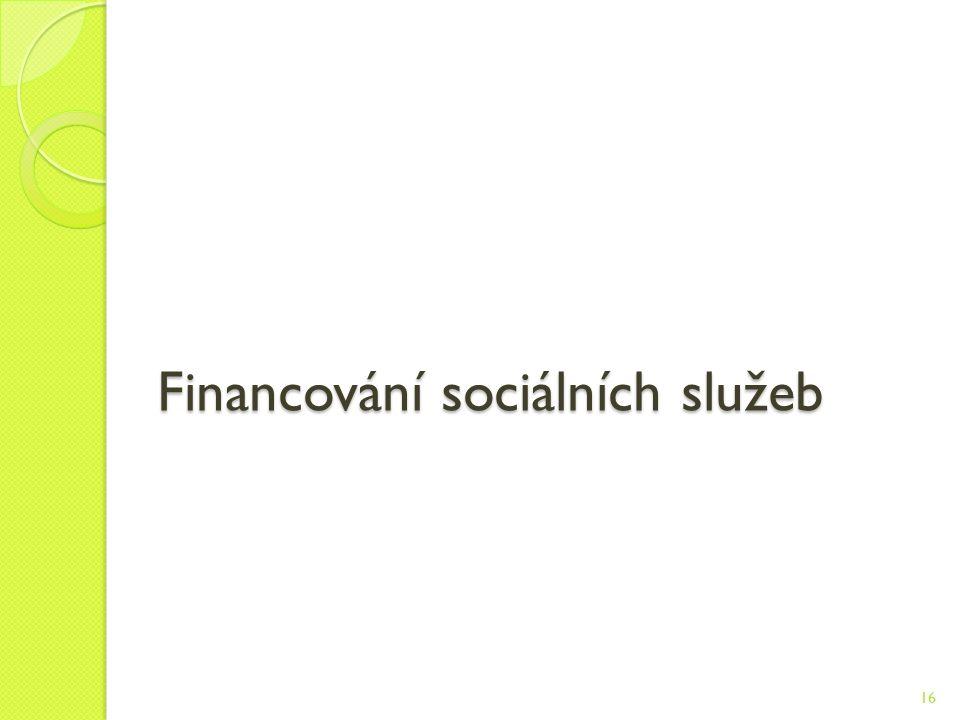 Financování sociálních služeb 16