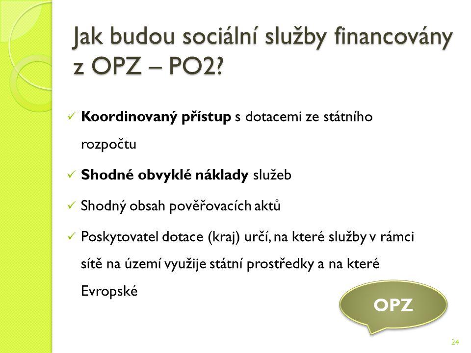 Jak budou sociální služby financovány z OPZ – PO2.
