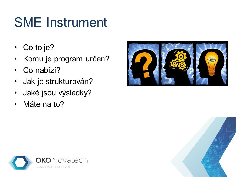 SME Instrument Co to je.Komu je program určen. Co nabízí.
