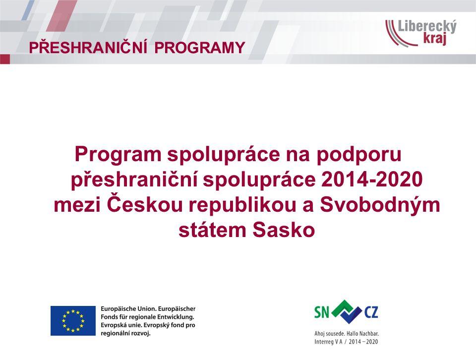 Program spolupráce na podporu přeshraniční spolupráce 2014-2020 mezi Českou republikou a Svobodným státem Sasko
