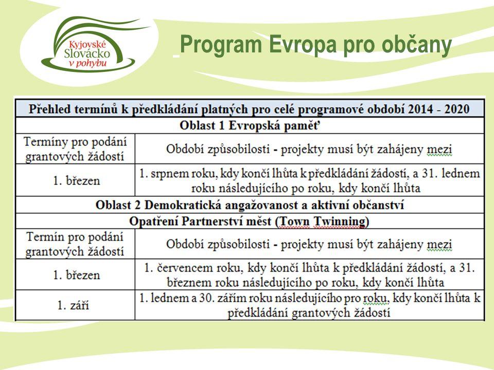 Program Evropa pro občany