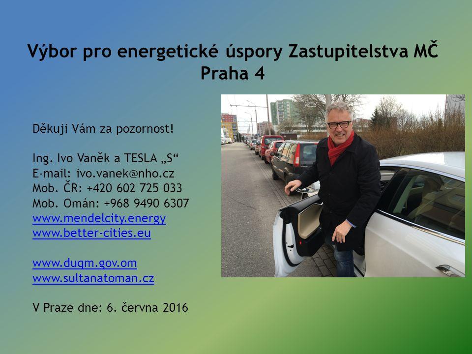 Výbor pro energetické úspory Zastupitelstva MČ Praha 4 Děkuji Vám za pozornost.