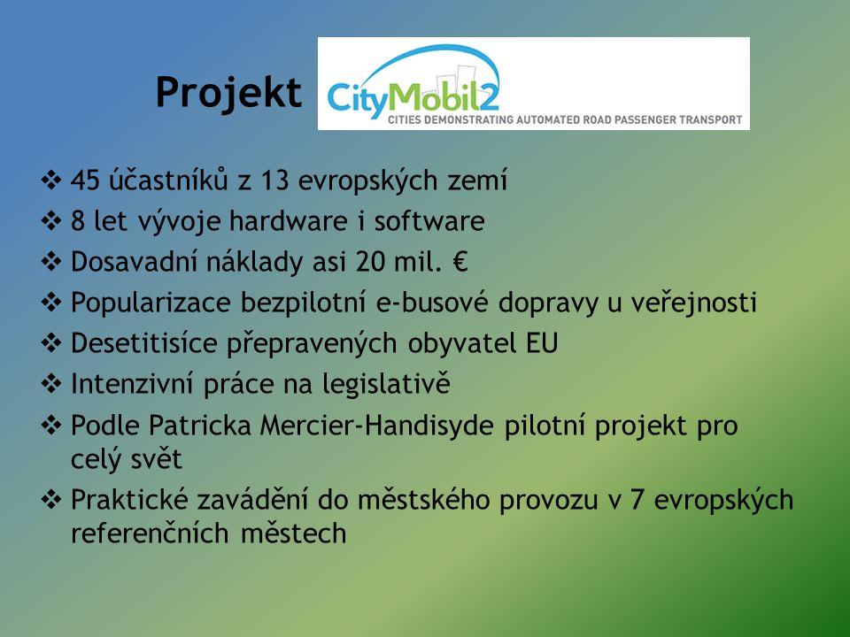 Projekt  45 účastníků z 13 evropských zemí  8 let vývoje hardware i software  Dosavadní náklady asi 20 mil.