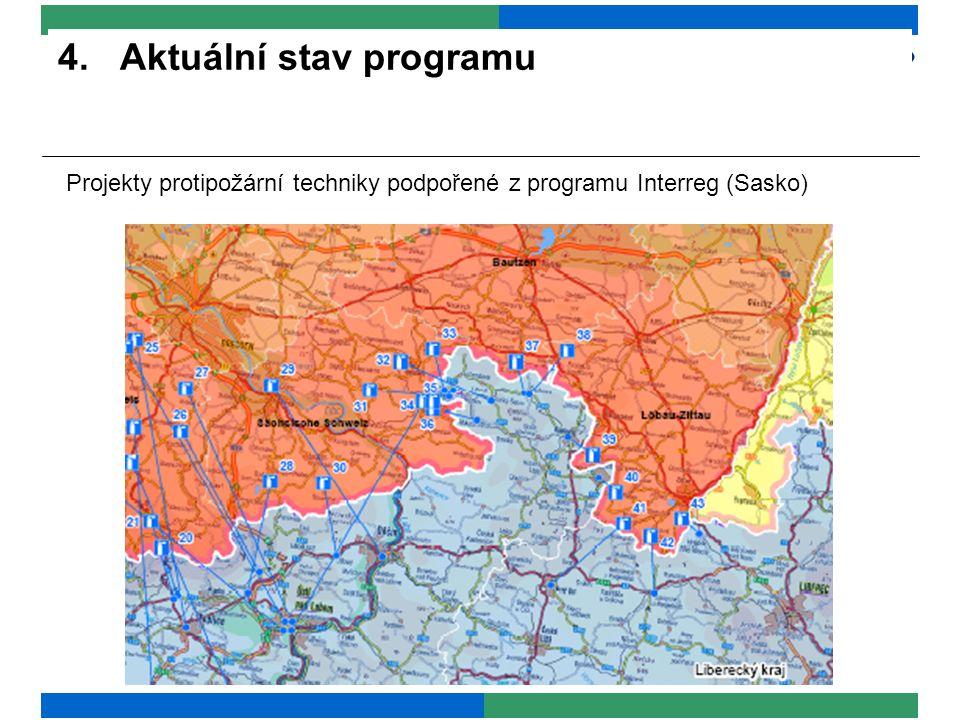 4. Aktuální stav programu Projekty protipožární techniky podpořené z programu Interreg (Sasko)