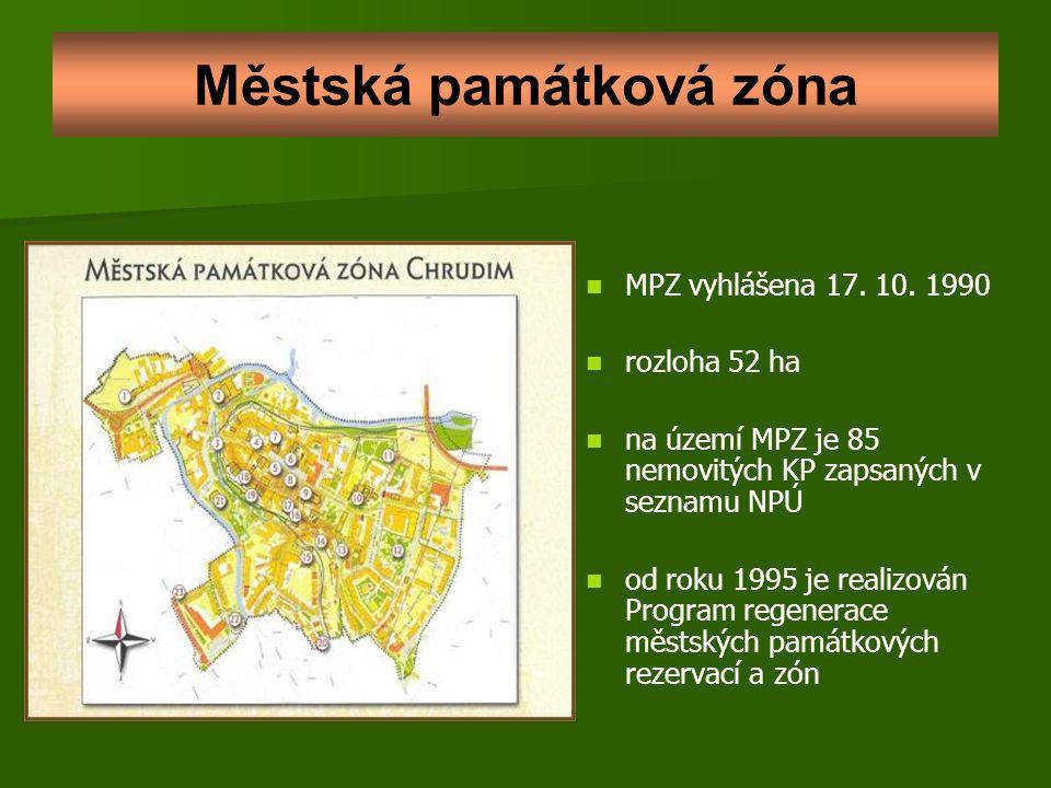 Městská památková zóna MPZ vyhlášena 17. 10.