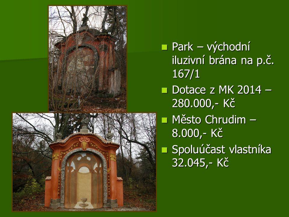 Park – východní iluzivní brána na p.č. 167/1 Park – východní iluzivní brána na p.č.