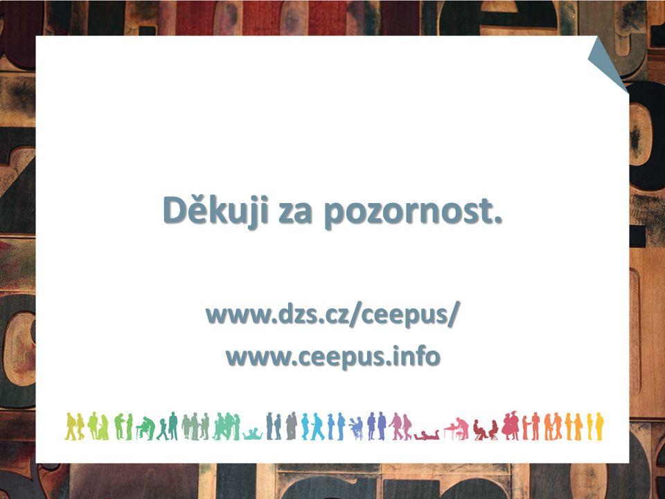 Děkuji za pozornost. www.dzs.cz/ceepus/www.ceepus.info