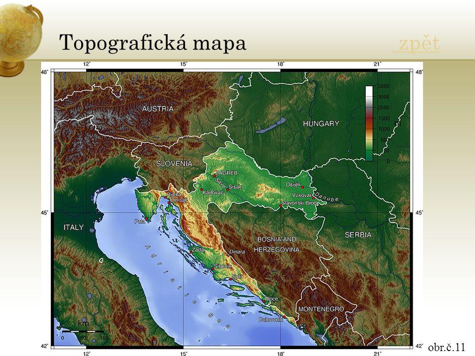 Topografická mapa zpět zpět obr.č.11