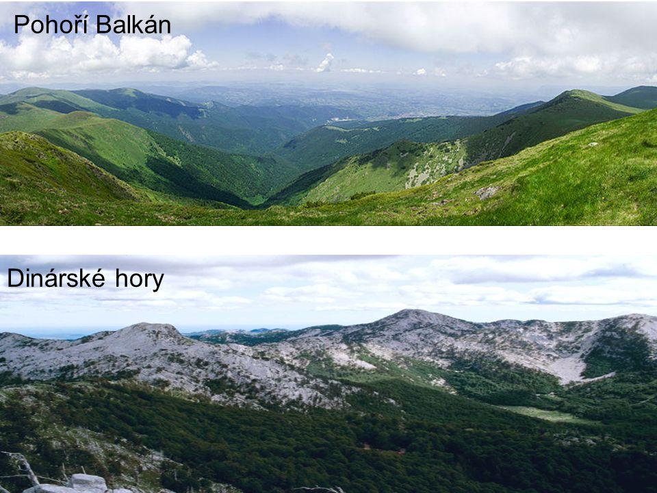 Pohoří Balkán Dinárské hory